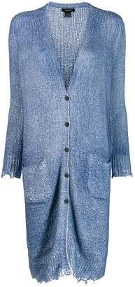 Avant Toi frayed hem button cardigan
