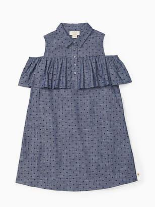 Kate Spade Girls cold shoulder ruffle dress