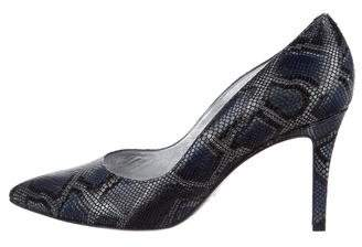 Free Lance Freelance Embossed Pointed-Toe Pumps