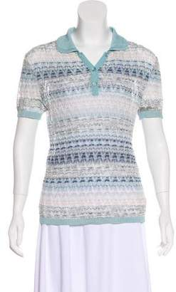 Missoni Knit Polo Top
