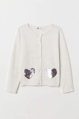 H&M Cardigan with Appliques - White