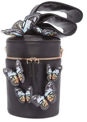 Sophia Webster Bonnie Butterfly Embroidered Satin Crossbody Bag - Womens - Black Multi