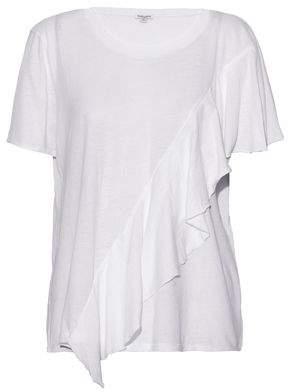 Splendid Ruffled Cotton-Jersey T-Shirt
