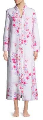 Carole Hochman Floral Full-Zip Robe