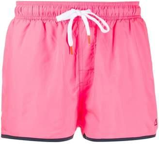 contrast trim swim shorts