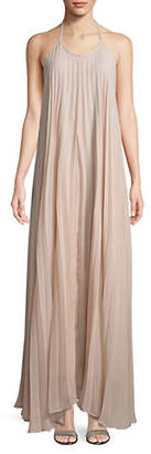 Missguided Pleated Strappy Maxi Dress