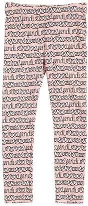 Fendi Hearts Printed Cotton Jersey Leggings