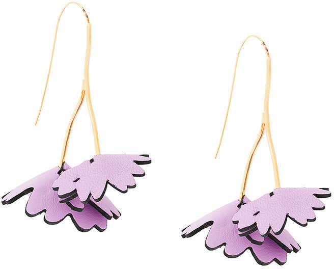 floral wishbone earrings