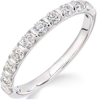 Love DIAMOND Love DIAMOND 9ct White Gold 50 Points of Diamond Eternity Ring