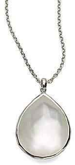 Ippolita Women's Wonderland Mother-of-Pearl, Clear Quartz& Sterling Silver Large Teardrop Doublet Pendant Necklace