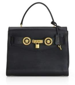 Versace Icon Leather Satchel Bag