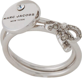 Marc Jacobs Silver-Tone Two-Piece Charm Rings