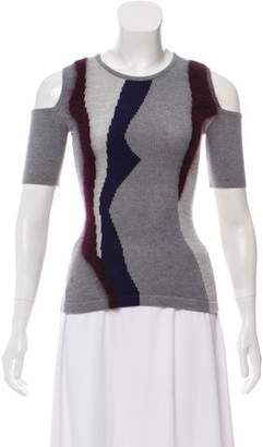 Yigal Azrouel Intarsia Cold-Shoulder Sweater w/ Tags