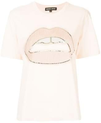 Markus Lupfer sequined lip T-shirt