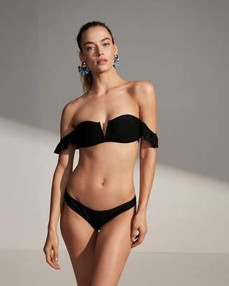 Express Off The Shoulder V-Wire Bikini Swim Top