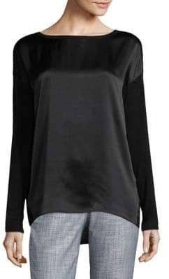 Vince Long Sleeve Silk-Jersey Top
