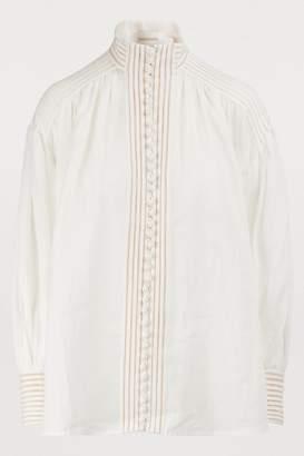 Zimmermann Corsage linen blouse