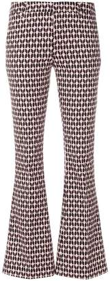 Dondup printed flared trousers
