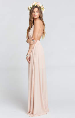 Show Me Your Mumu Luna Halter Dress ~ Dusty Blush Crisp