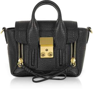 3.1 Phillip Lim Black Leather Pashli Nano Satchel Bag