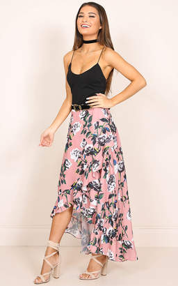 Showpo Pretty Thing Wrap Skirt pink floral