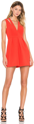 BCBGMAXAZRIA Clarye Deep V Dress $268 thestylecure.com