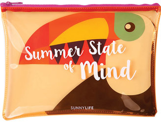 Sunnylife Toucan transparent beach pouch $10.50 thestylecure.com