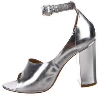 3.1 Phillip Lim Metallic Ankle Strap Sandals
