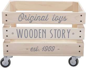 story. Wooden Toy Boxes Wooden Storage Crate, Slatted
