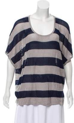 Rag & Bone Striped Short Sleeve Sweater
