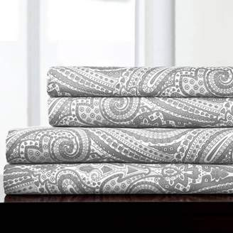Sweet Home Collection 1800-Count Paisley Print Microfiber Sheet Set