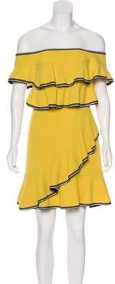 Rebecca Vallance Ruffle-Trimmed Mini Dress