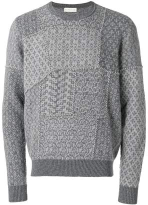 Etro knit patch jumper