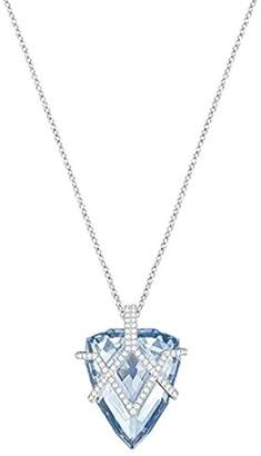Swarovski Women's Chain with Pendant Rhodium-Plated White Crystal 70 cm 5269968