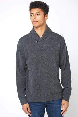 Faherty Dual Knit Shawl Collar Pullover