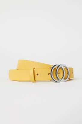 H&M Narrow Belt - Yellow