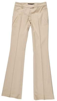 Barbara Bui Low-Rise Flared Pants Beige Low-Rise Flared Pants