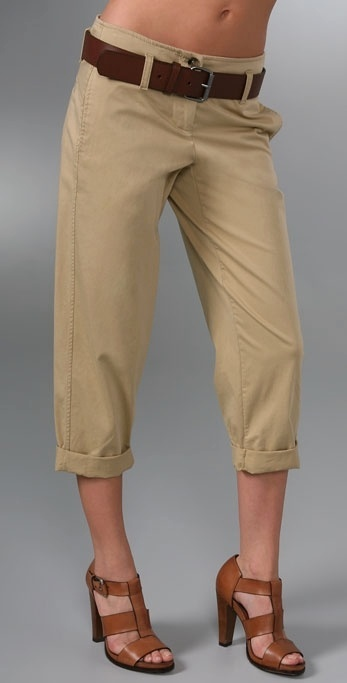 Theory Filisa Cropped Pants with Belt