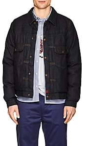 Visvim Men's Down Denim Trucker Jacket - Dk. Blue