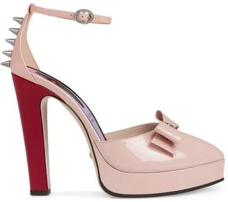 5c4ee1cf235f Gucci Pink Leather Pumps - ShopStyle