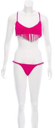 Mara Hoffman Fringe-Trimmed Two-Piece Swimsuit w/ Tags