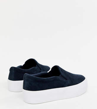 Asos DESIGN Deacon suede chunky slip on plimsolls