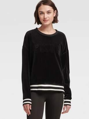 DKNY Velour Logo Sweatshirt