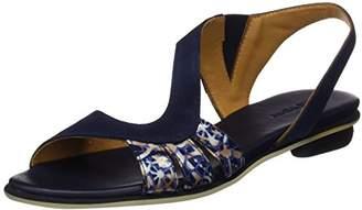 Audley Women 19756 Flat Platform Blue Size: 36