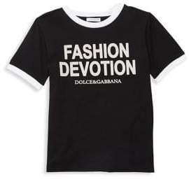 Dolce & Gabbana Little Girl's& Girl's Fashion Devotion Tee