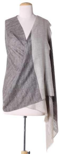 Hand Woven Indian 100% Cashmere Pashmina Wool Shawl, 'Mountain Breeze'