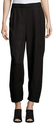 Eileen Fisher Linen-Blend Lantern Ankle Pants, Petite