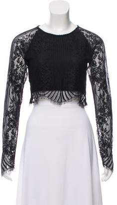 For Love & Lemons Lace Cropped Top