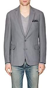 Ralph Lauren Purple Label Men's Hadley Slub Silk-Linen Two-Button Sportcoat - Gray