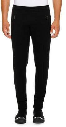 Neil Barrett Men's Varsity Scuba Stripe Sweatpants